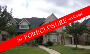 This foreclosure was stopped